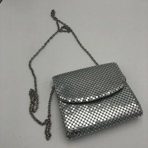 NEW RSVP Evening Bag Silver Handbag Mini Metal